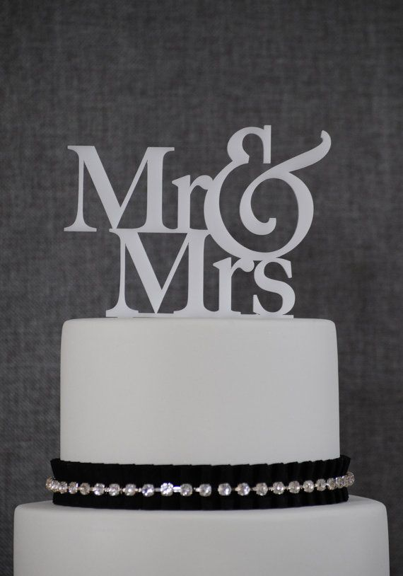 Mr And Mrs Wedding Cake Toppers Elegant Traditional