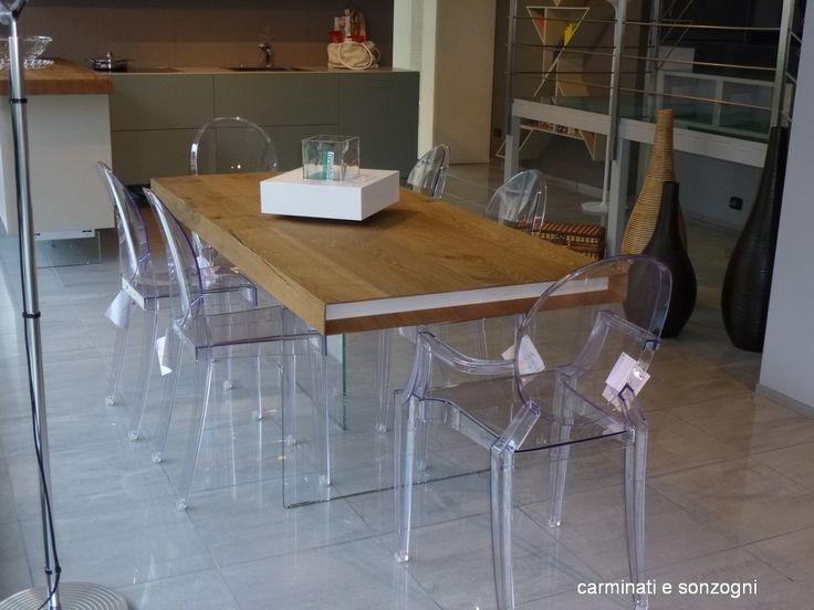 tavolo wildwood Lago - sedia Victoria Ghost Kartell - sedia Louis Ghost Kartell -2