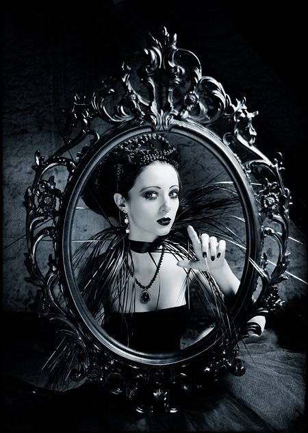 Mirror, Mirror on the Wall/ This is like Snow White looking at her possible future twisted self.. creepy.