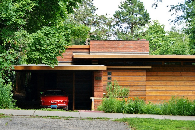 Herbert jacobs house i frank lloyd wright madison for Frank lloyd wright parents