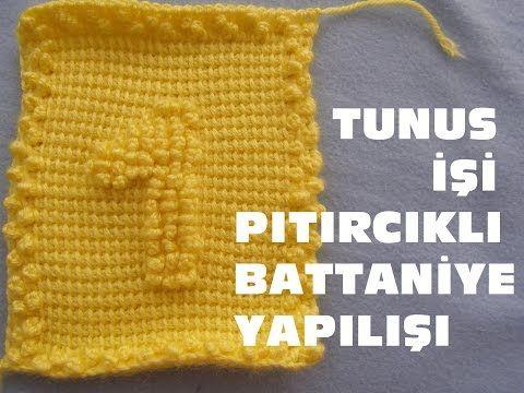 Tunus İşi Pıtırcıklı Bebek Battaniye Yapılışı - RAKAMLAR 1.NUMARA - YouTube