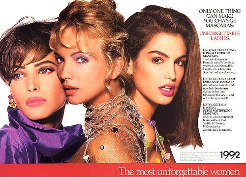 Christy Turlington, Rachel Williams & Cindy Crawford for REVLON 1992