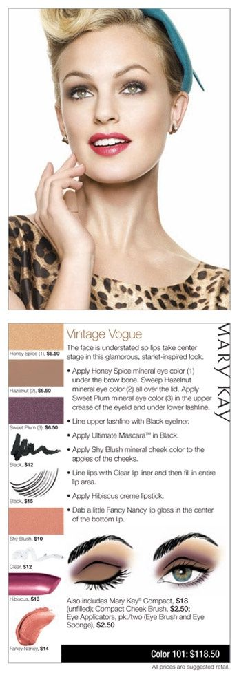 Going for a Vintage look? Mary Kay has come to the rescue with a tutorial to enhance your beautiful look!