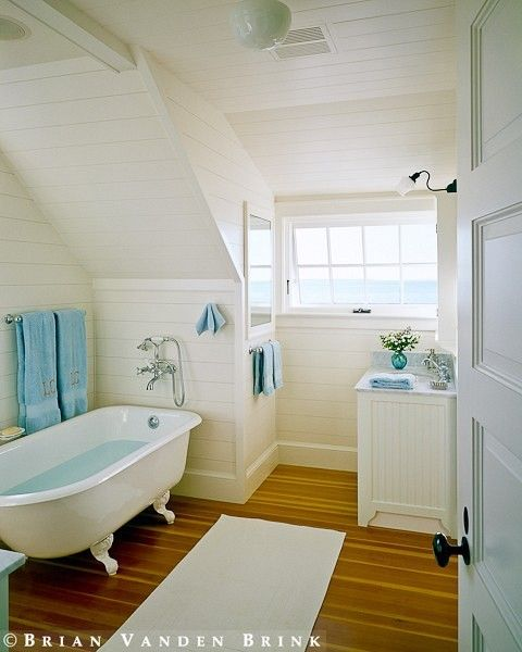 538 best attic use storage and conversion images on for Slanted ceiling bathroom