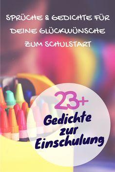 Spruch zur Einschulung gesucht? Hier findest du über 23 Sprüche und Gedichte zum Schulanfang für deine Glückwünsche zum Schulstart