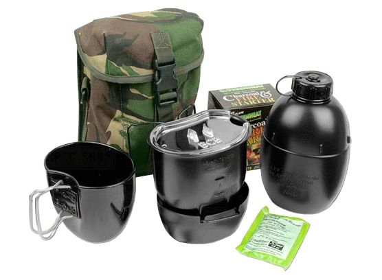 Crusader Canteen Cook Set - SEE THE BEST SURVIVAL PRODUCTS AT http://www.selfdefensegearco.com/survival-gear.php