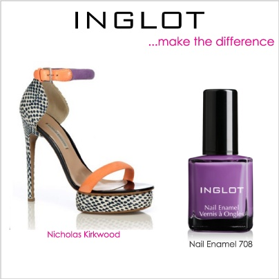 Fierce heels and a lovely pedi with nail enamel 708