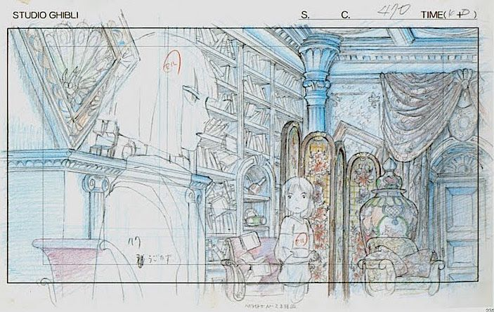 Film: Spirited Away (千と千尋の神隠し) ===== Layout Design - Scene: Yubaba Summons Haku…