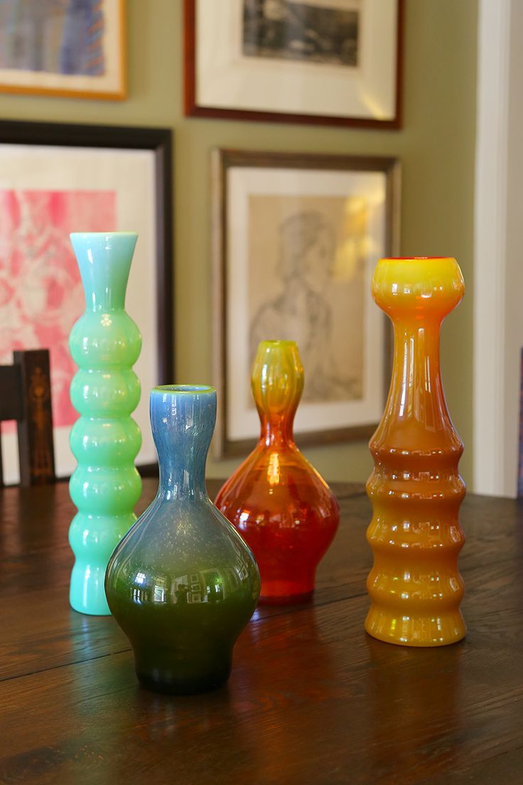 A collection of Polish modernist art glass from the 1960s and 1970s including Zbigniew Horbowy and Krzysztof Krawczyk