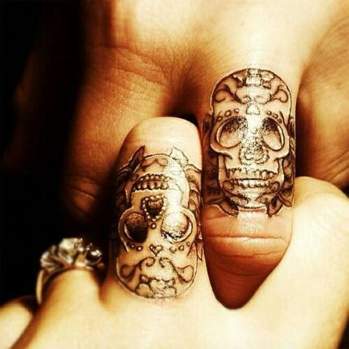 Matching sugar skull tattoos for couples tattoo ideas Pinterest