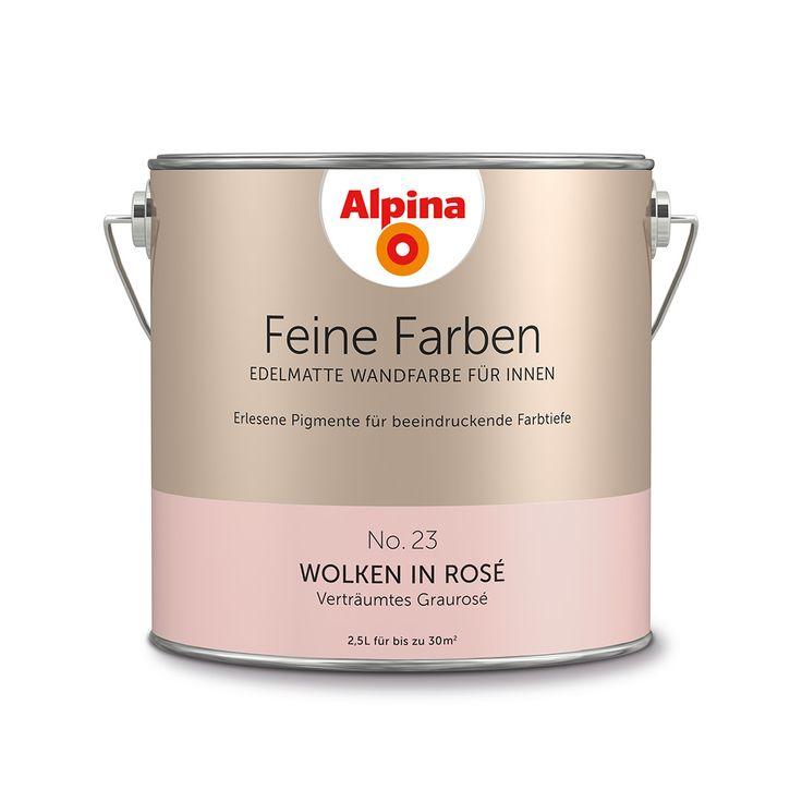 Alpina Feine Farben No. 23 – Wolken in Rosé. #Design #DIY #Farbe #Einrichten…