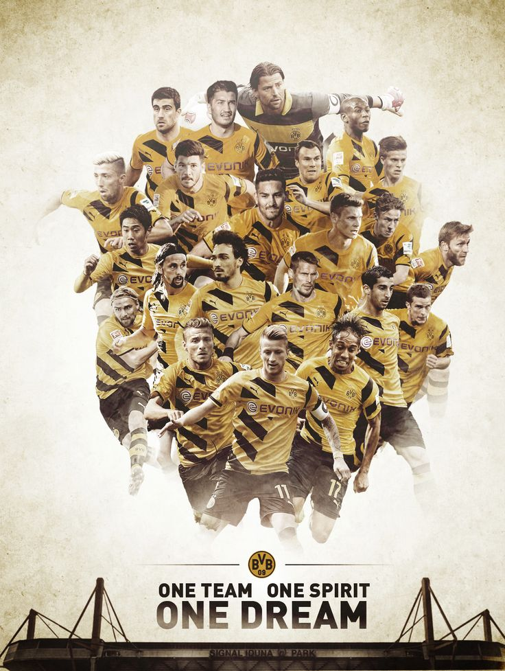 "Borussia Dortmund ""One Dream"" Graphic by Jacek Jaśkowiak"