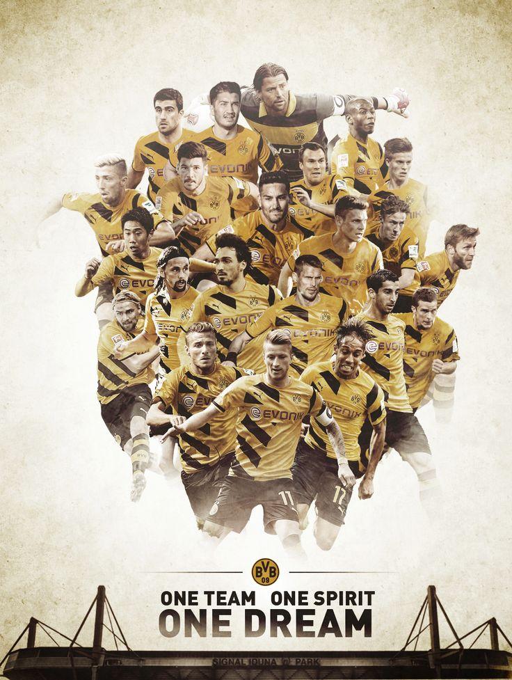 """Borussia Dortmund """"One Dream"""" Graphic by Jacek Jaśkowiak"""