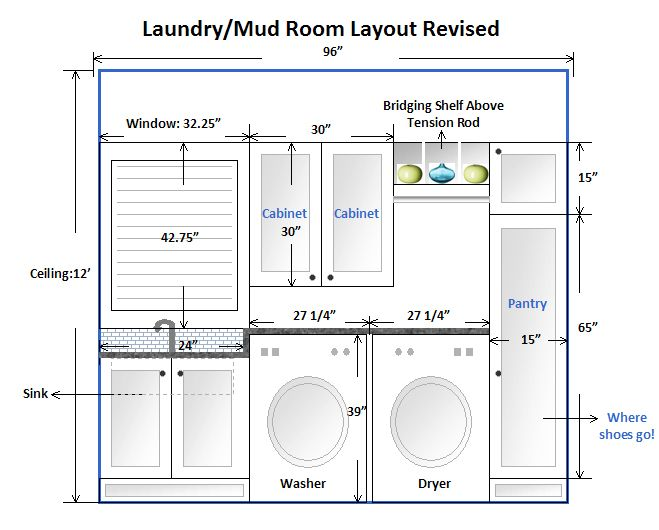 Best 25 laundry room layouts ideas on pinterest laundry for Laundry bathroom floor plans