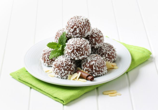pasticcini al cocco e nutella senza cottura