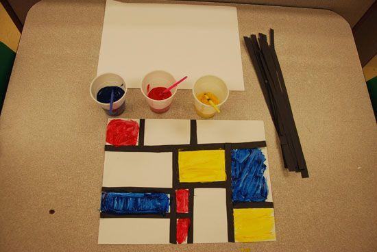Just Montessori- Piet Mondrian Project