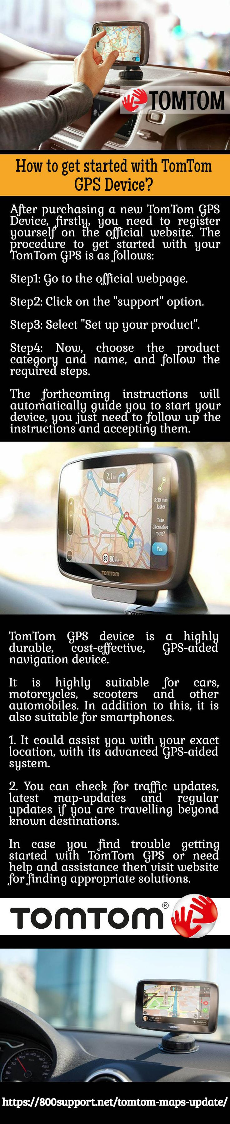 With tomtom global positioning system gps device you ll never get lost