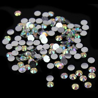 1000 pcs 2mm Multi-Color 14 Facets Resin Round Rhinestone Sparkling Rhinestones Nail Art Decoration DIY N22