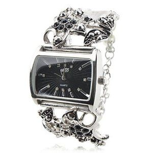 Tanboo Women's Alloy Analog Quartz Bracelet Watch with Flower (Silver) by Tanboo. $14.99. Fashionable Watches. Women's Watche. Bracelet Watches. Gender:Women'sMovement:QuartzDisplay:AnalogStyle:Bracelet WatchesType:Fashionable WatchesBand Material:AlloyBand Color:SilverCase Diameter Approx (cm):4Case Thickness Approx (cm):1Band Length Approx (cm):23Band Width Approx (cm):3.3