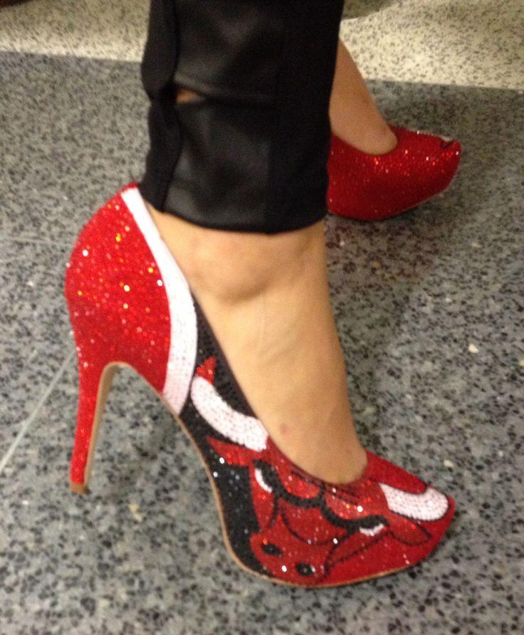Chicago Bulls sparkly stilettos