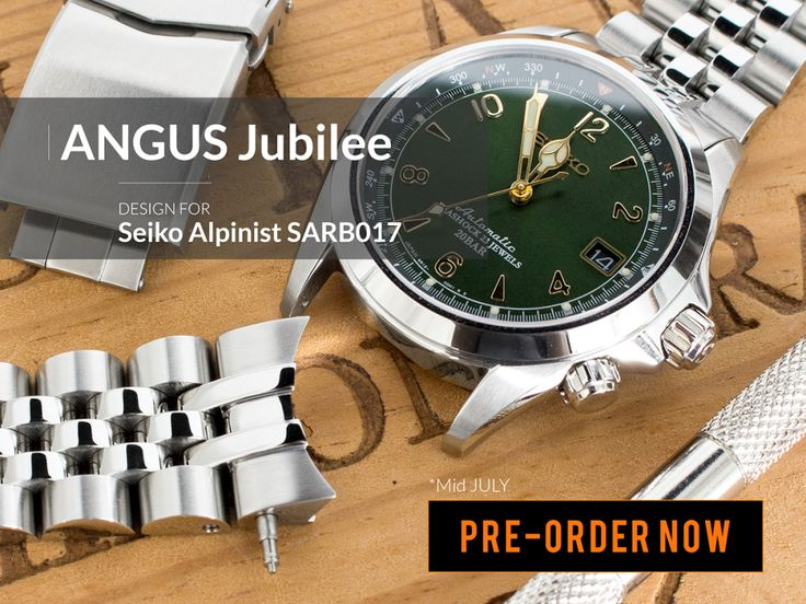 #MiLTAT ANGUS Jubilee PRE-ORDER begins today, get your pre-order in now for your Seiko Alpinist SARB017    Pre-order now:  www.strapcode.com *expected to ship around mid July 2017    #strapcode #angusjubilee #seikoalpinist