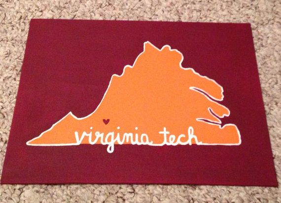 Virginia Tech Canvas by SweetCarolineBH on Etsy
