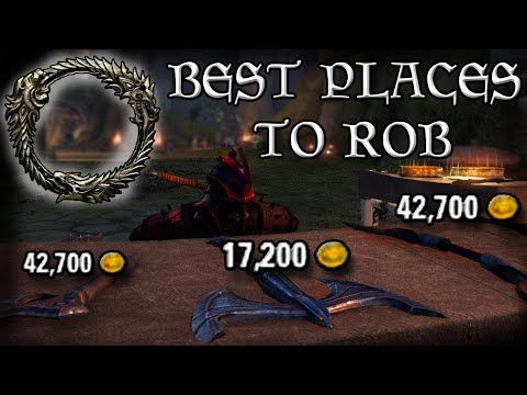 The BEST places to ROB to make MONEY in ESO (Elder Scrolls Online Quick Tips for PC, PS4, and XB1). #BestESOVideo, #ElderScrolls, #ElderScrollsOnline, #ElderScrollsOnlineCombat, #ElderScrollsOnlineFreeRoam, #ElderScrollsOnlineOpenWorld, #ElderScrollsOnlinePC, #ElderScrollsOnlinePCGameplay, #ElderScrollsOnlinePS4, #ElderScrollsOnlinePVP, #ElderScrollsOnlineSideQuests, #ElderScrollsOnlineWorld, #ElderScrollsOnlineXB1, #ElderScrollsOnlineXboxOne, #ESO, #ESOLevelingUp, #ESOMoney,