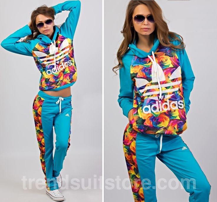 Article CDF00020 #floral #hood #tracksuit Order of this product only by wholesale catalog at our website. Stylish womens hooded floral turquoise tracksuit.