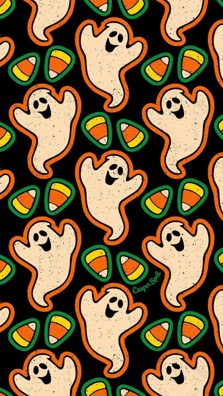 Ghosts Candy Corn Pattern Halloween Wallpaper Backgrounds Halloween Wallpaper Iphone Backgrounds Halloween Wallpaper Iphone