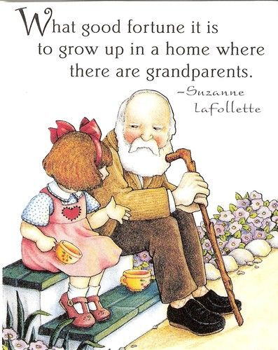 Good Fortune Home Where There Are Grandparents Artwork By Mary Engelbreit