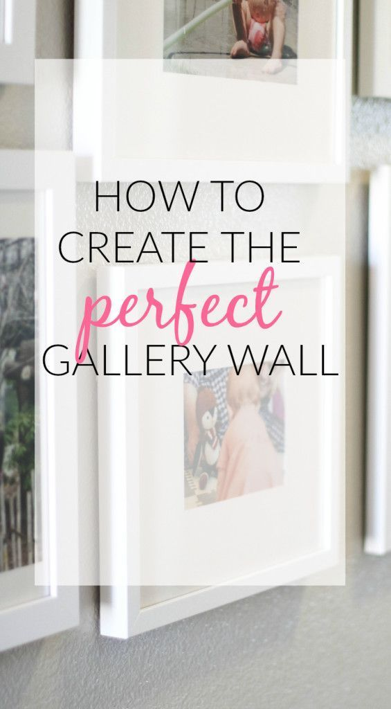 the perfect, white gallery wall