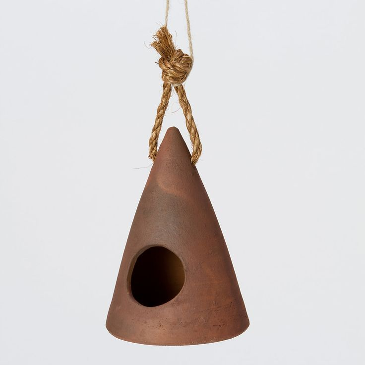 Ceramic Cone Birdhouse in Outdoor Living GARDEN DÉCOR Birdhouses at Terrain