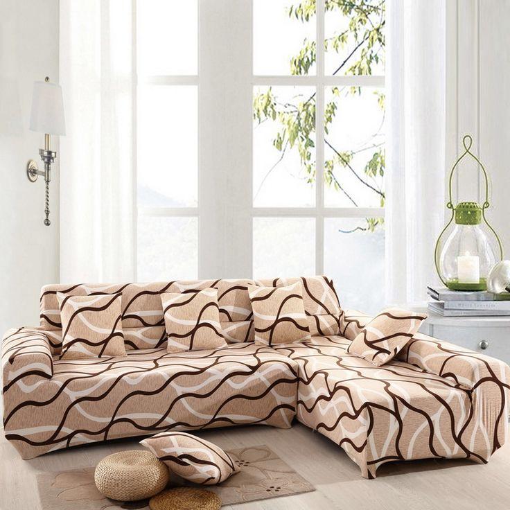 Секционный диван обложки l образный диван обложка эластичная универсальный обернуть весь диван чехол сплошной цвет купить на AliExpress