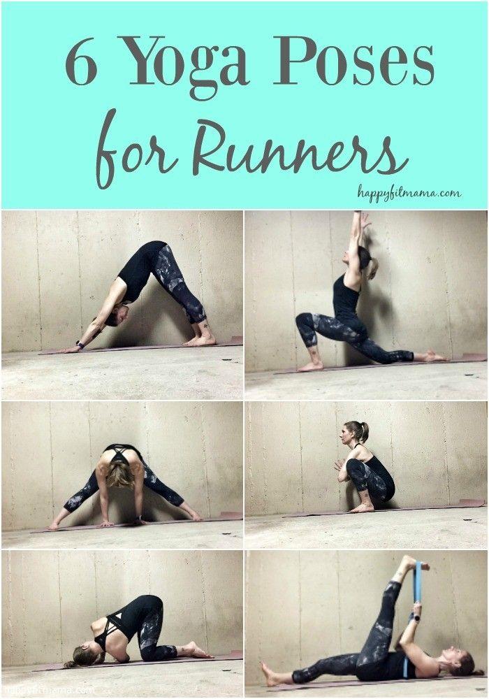 6 yoga poses for runners / yoga / yoga for runners / stretch / fitness for runners / marathon training / running |  happyfitmama.com