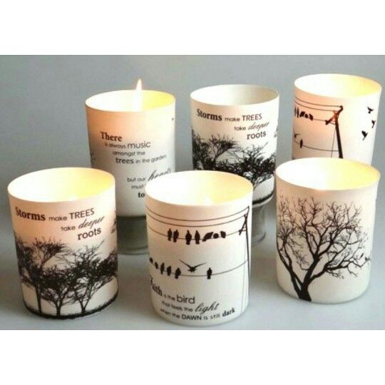 These fine porcelain candles, make the perfect Christmas gifts!