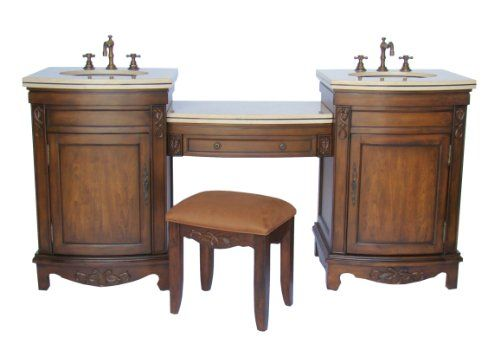 Nice Bathroom Vanities With Makeup Table With Double