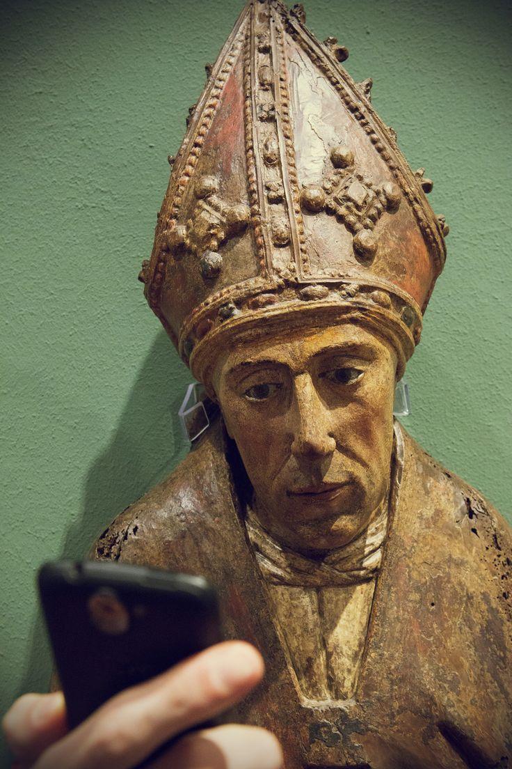 Nieokreślony artysta niderlandzki, Popierskie nieznanego świętego biskupa, ok. 1500 #museumselfie