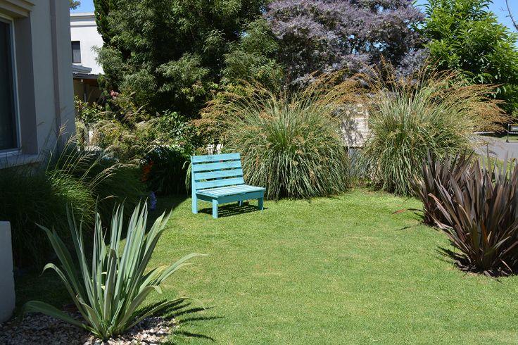 My front garden formio rubra beschorneria paspalum for Gramineas ornamentales vivero