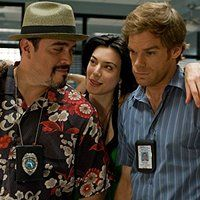 Michael C. Hall, David Zayas, and Jaime Murray in Dexter (2006)