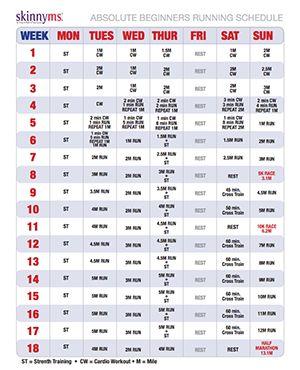 The Ultimate Guide to Starting a Running Program Free Absolute Beginners Running Schedule. Start with a walk/run. #beginningrunning #beginnersworkouts