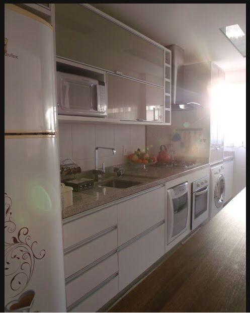 17 Best images about Cozinha on Pinterest  Madeira, Small kitchens and Cabinets # Bancada De Cozinha Com Lava Louca