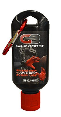 Grip Boost Football Glove Grip Bottle (2oz) -  Patent-pending clear polymer gel that provides extraordinarily clean grip to football gloves