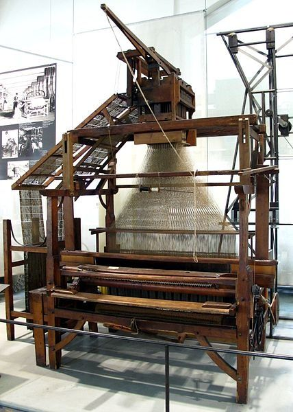 Jacquard loom.  Think of the hours that people put into making fabric before the industrial revolution. Such an amazing thing.