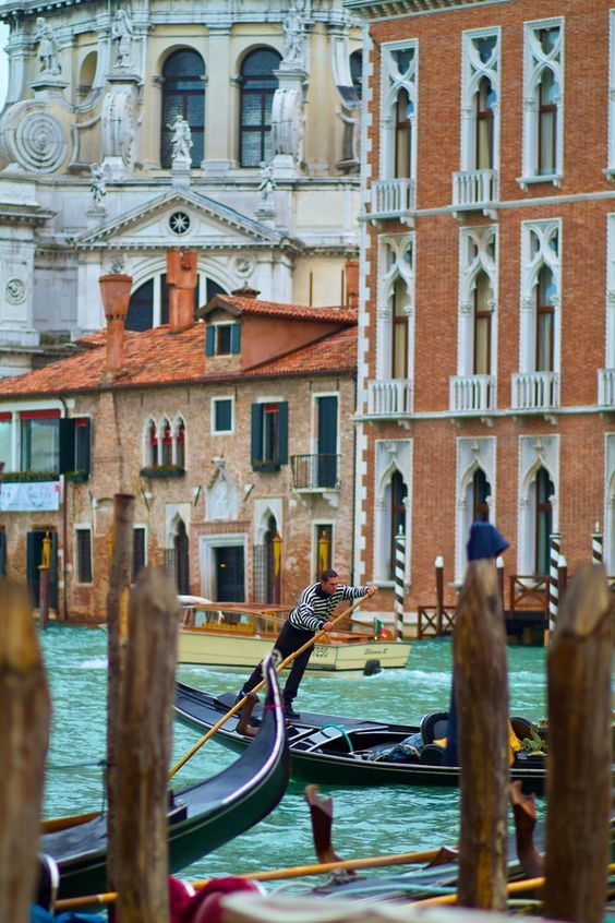 Gondolier in Venice, Italy: