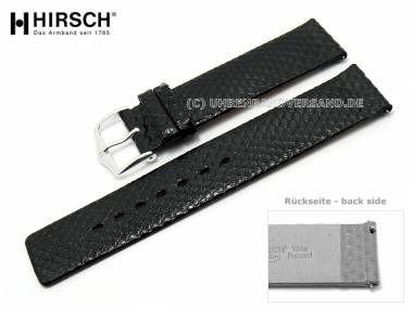Watch band -Aqualino- 16mm black water snake easy change from HIRSCH (width of buckle 16 mm) - Bild vergrößern