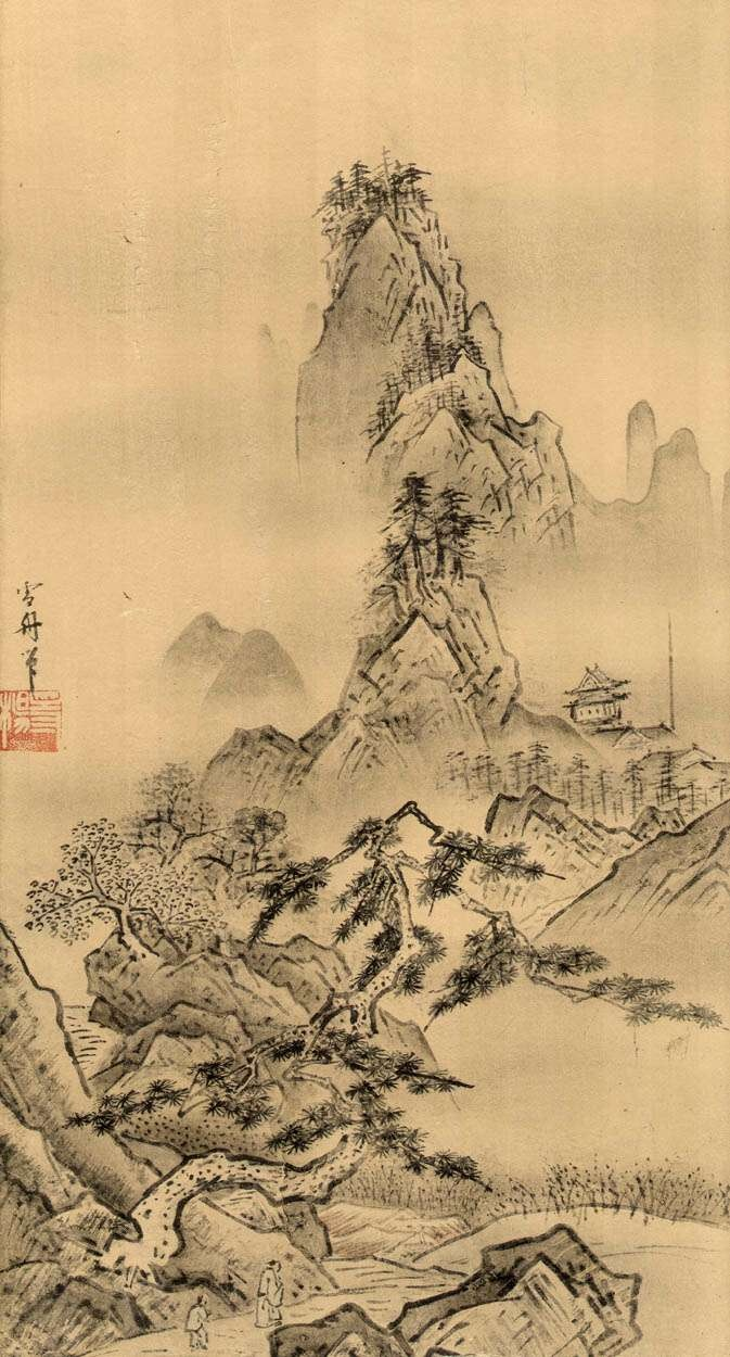 37 best 202 sesshu1420 1506 images on pinterest japanese an example of sesshu toyos art toyo often painted landscapes making bold strokes to emphasise the foreground sciox Gallery