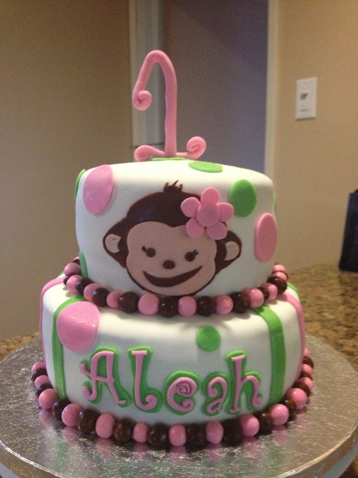 Birthday Cake Ideas Monkey : Monkey girl birthday cake Creations Pinterest Monkey ...