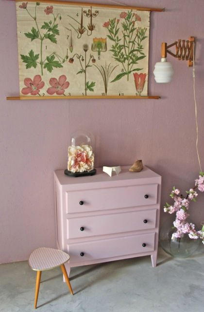 COMMODE VINTAGE ROSE