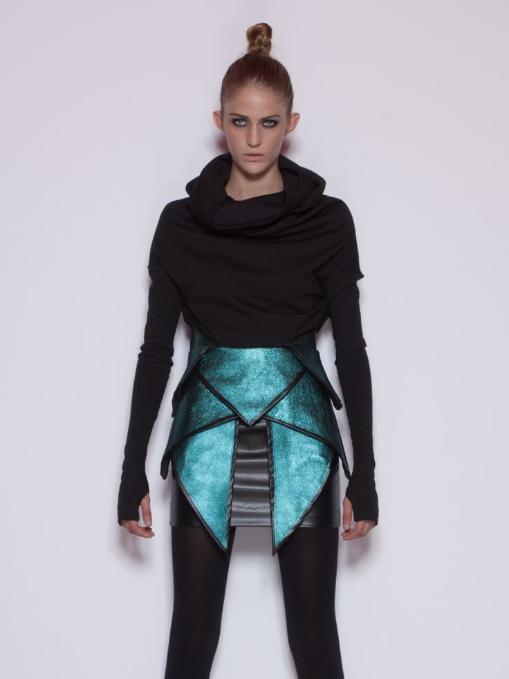 Futuristic Fashion Model Royalty Free Stock Photos: Future Fashion, Futuristic Clothing, Achilles Skirt By