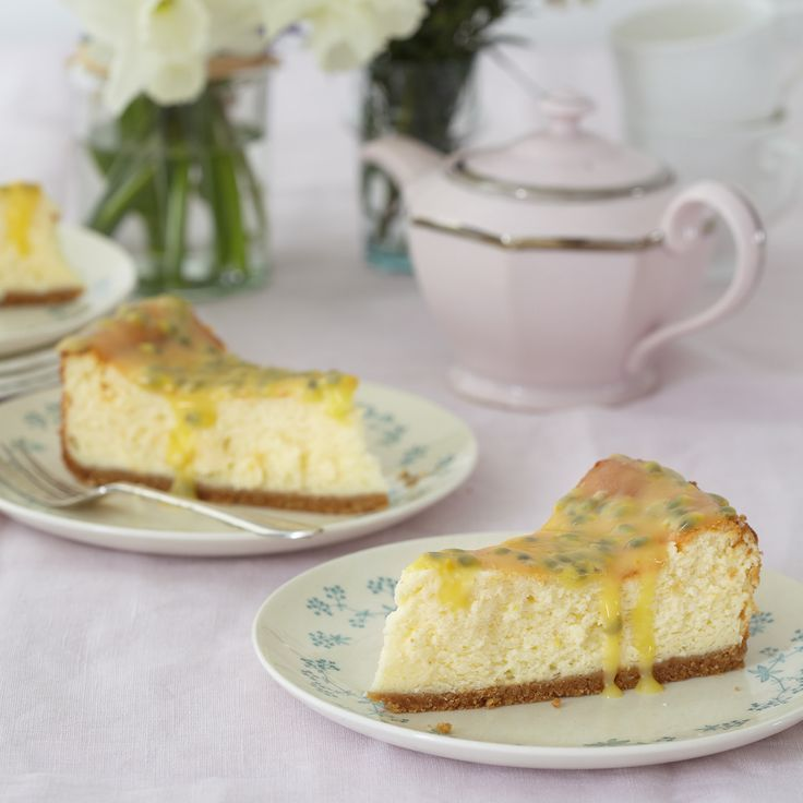 mary berry 39 s passion fruit and lemon baked cheesecake